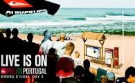 Recomeçou esta manhã na praia de Ribeira D'Ilhas, na Ericeira, o Quiksilver Pro Portugal, evento Prime que vai até Domingo. […]