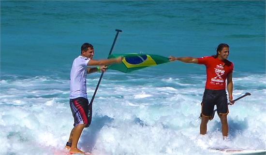 Leco Salazar, campeão do mundo, e Caio Vaz