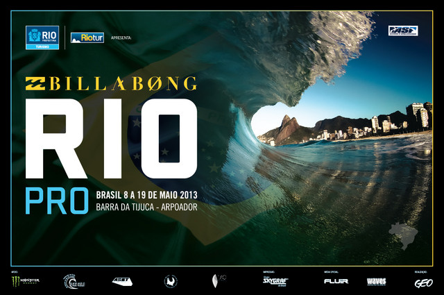 Cartaz do Billabong Rio Pro 2013