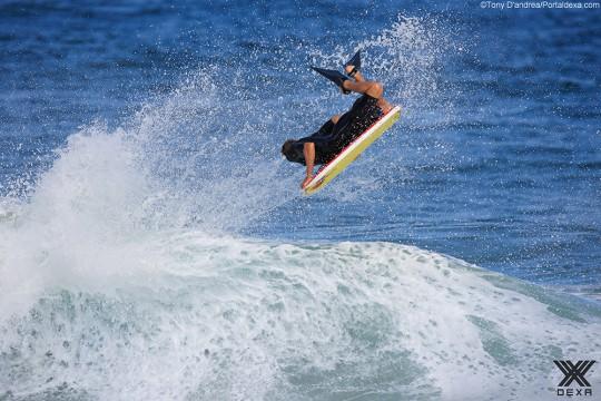 Jeff Hubard espera boas ondas na etapa brasileira. Foto Tony D'Andrea/Dexa