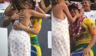 Confira as melhores fotos da festa de Gabriel Medina comemorando o título histórico para o surfe brasileiro.