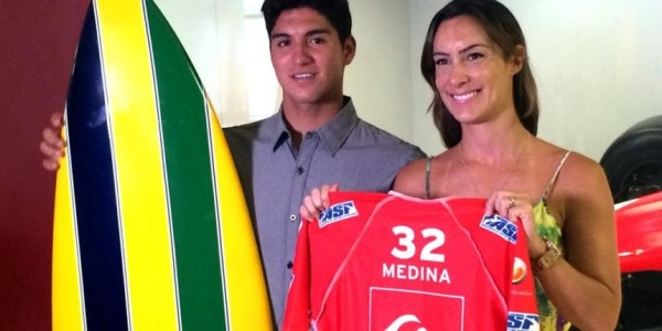 Gabriel Medina e Bianca Senna